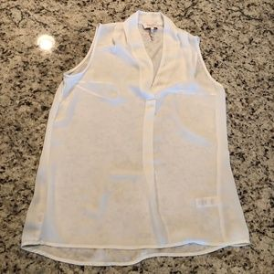 Laundry by Shelli Segal Sheer Cami Tank White